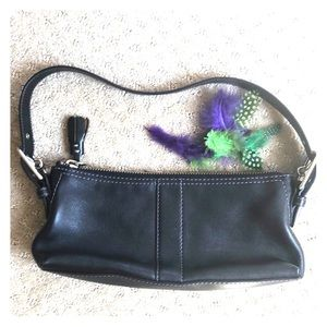 Fall is Small Bags! Small Black Leather Coach Bag